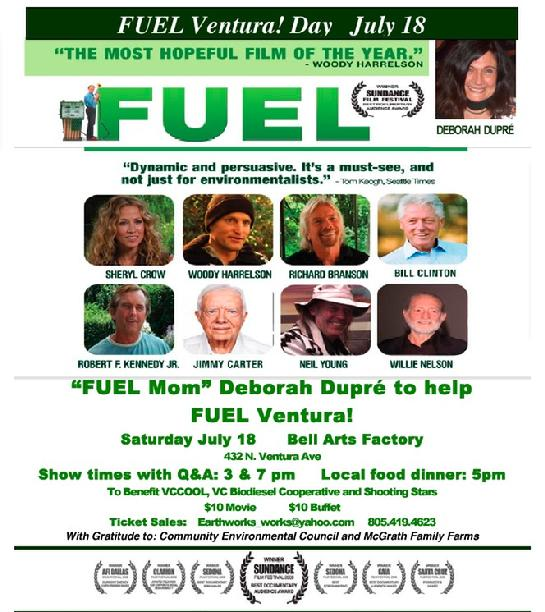 Deborah Dupre Fuel Film Poster Peace and Human Rights Advocate